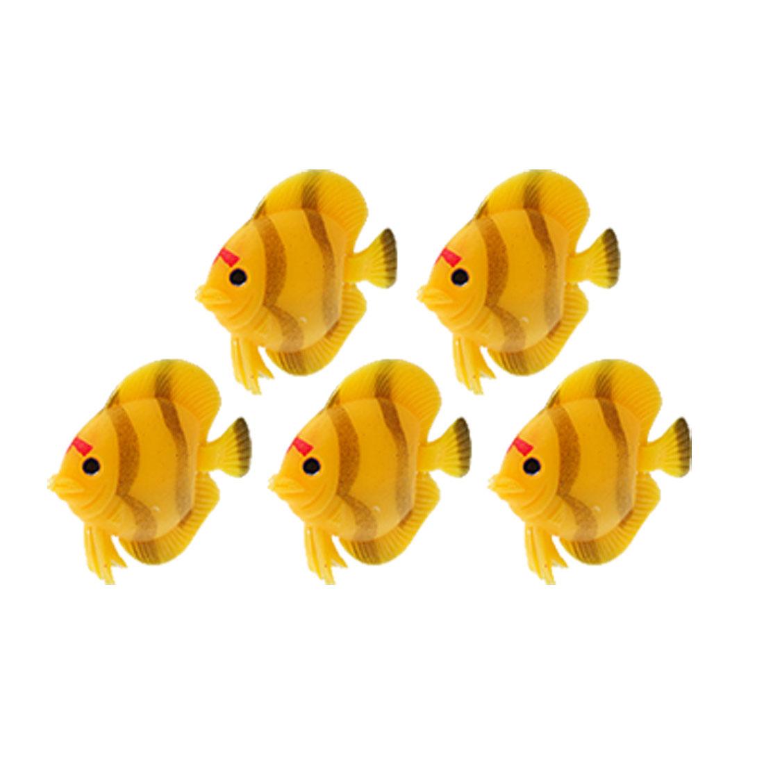 Aquarium Tank Ornament Plastic Fish w. Flexible Tail