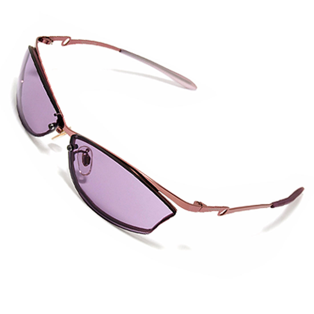 Purple Metal Frame with Plastic end Fashion Sunglasses for Ladies