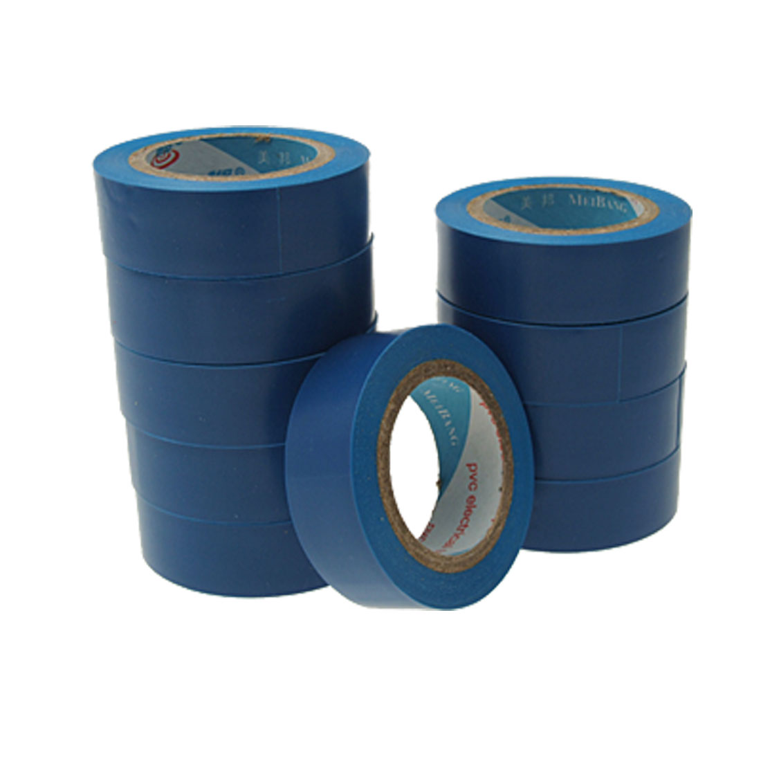 Blue Adhesive PVC Plastic Electrical Tape 10 Rolls