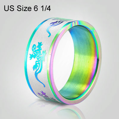 Attractive Burnish Multicolor Finger Ring 6 1/4 US Size
