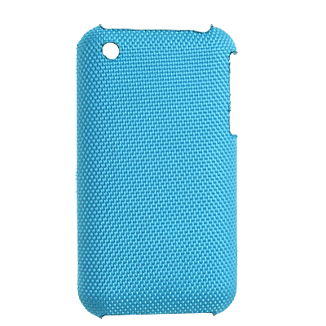 Blue Hard Nylon Coated Plastic Back Case for iPhone 3G