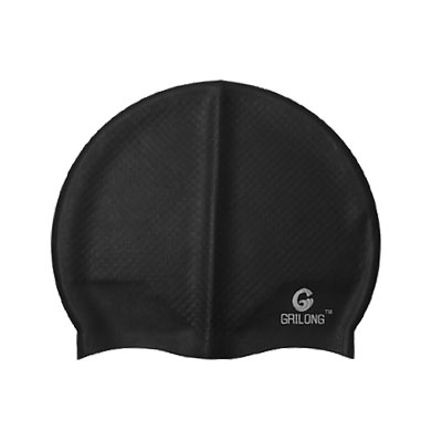 Unisex Silicone Anti-slip Flexible Aquatic Sports Training Swimming Hat Cap Black