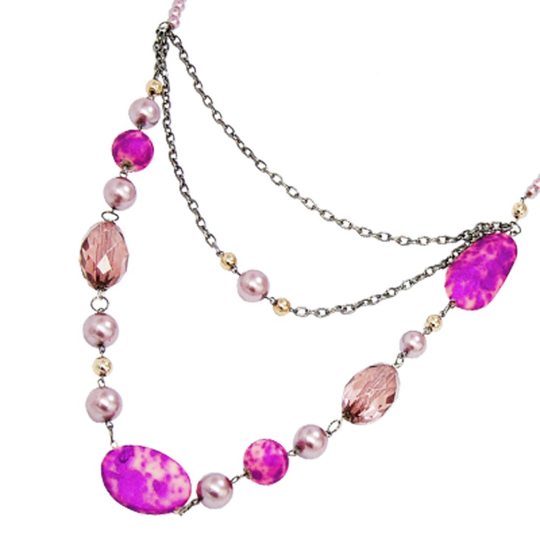 Stylish Stone Style Plastic Beads Coat Cloth Ladies' Necklace