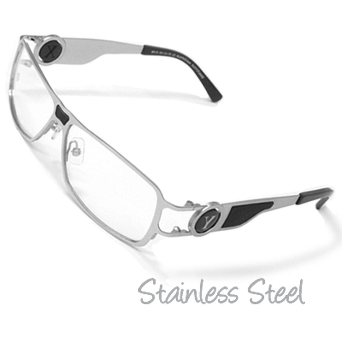 Silvery Unisex Stainless Steel Optical Eyeglasses Frame