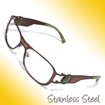 Full-rim Stainless Steel Eyewear Glasses Frame for Lady