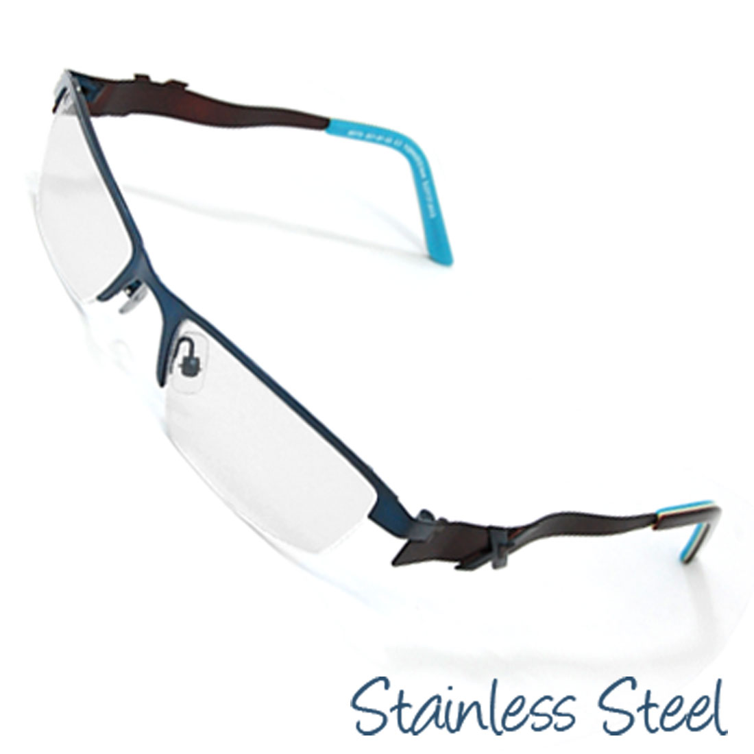 Half Rim Women's Steel Optical Eyewear Eyeglasses Frame