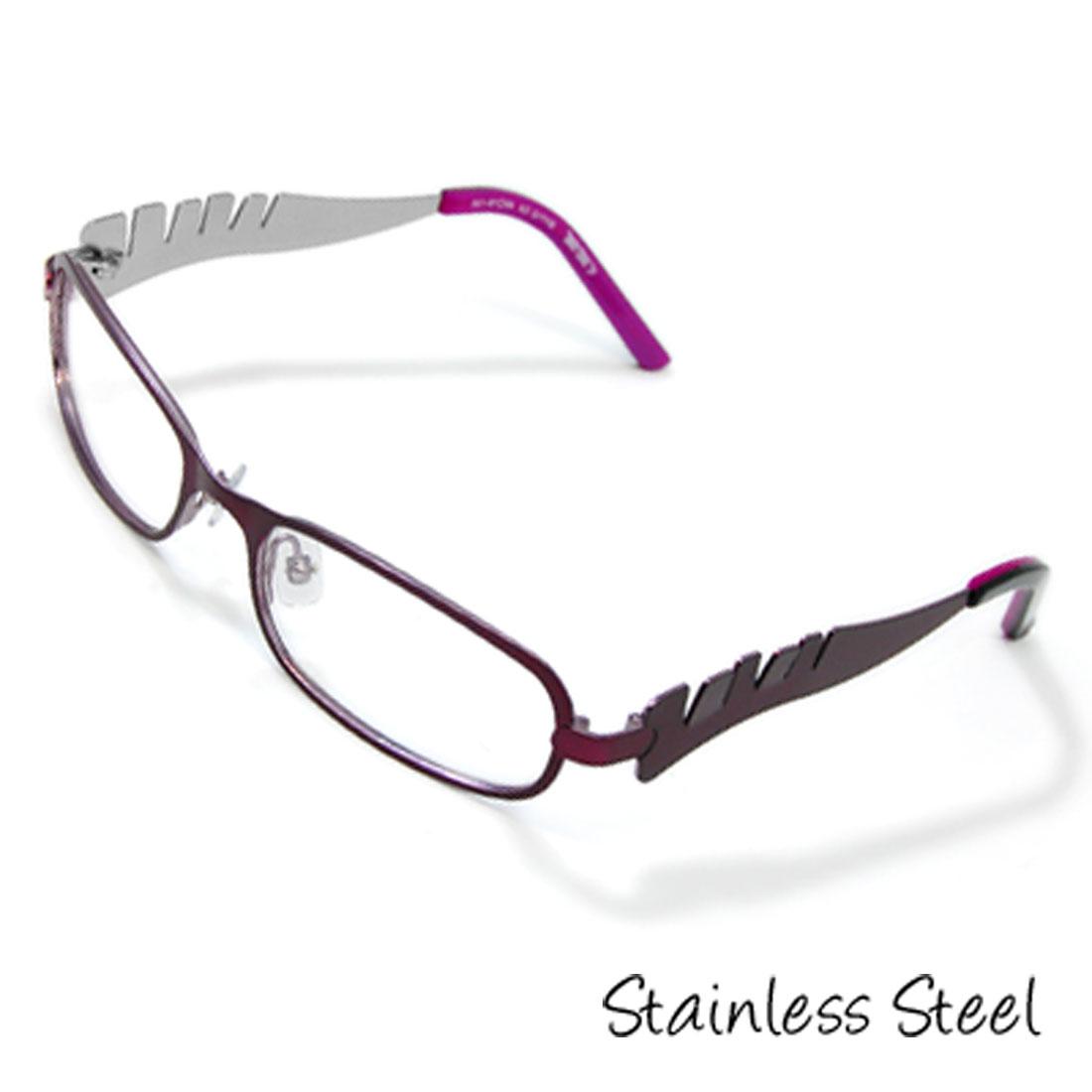 Girls' Stainless Steel Optical Eyeglasses Frame Purple