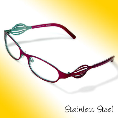 Full Rim Women's Steel Optical Eyewear Eyeglasses Frame
