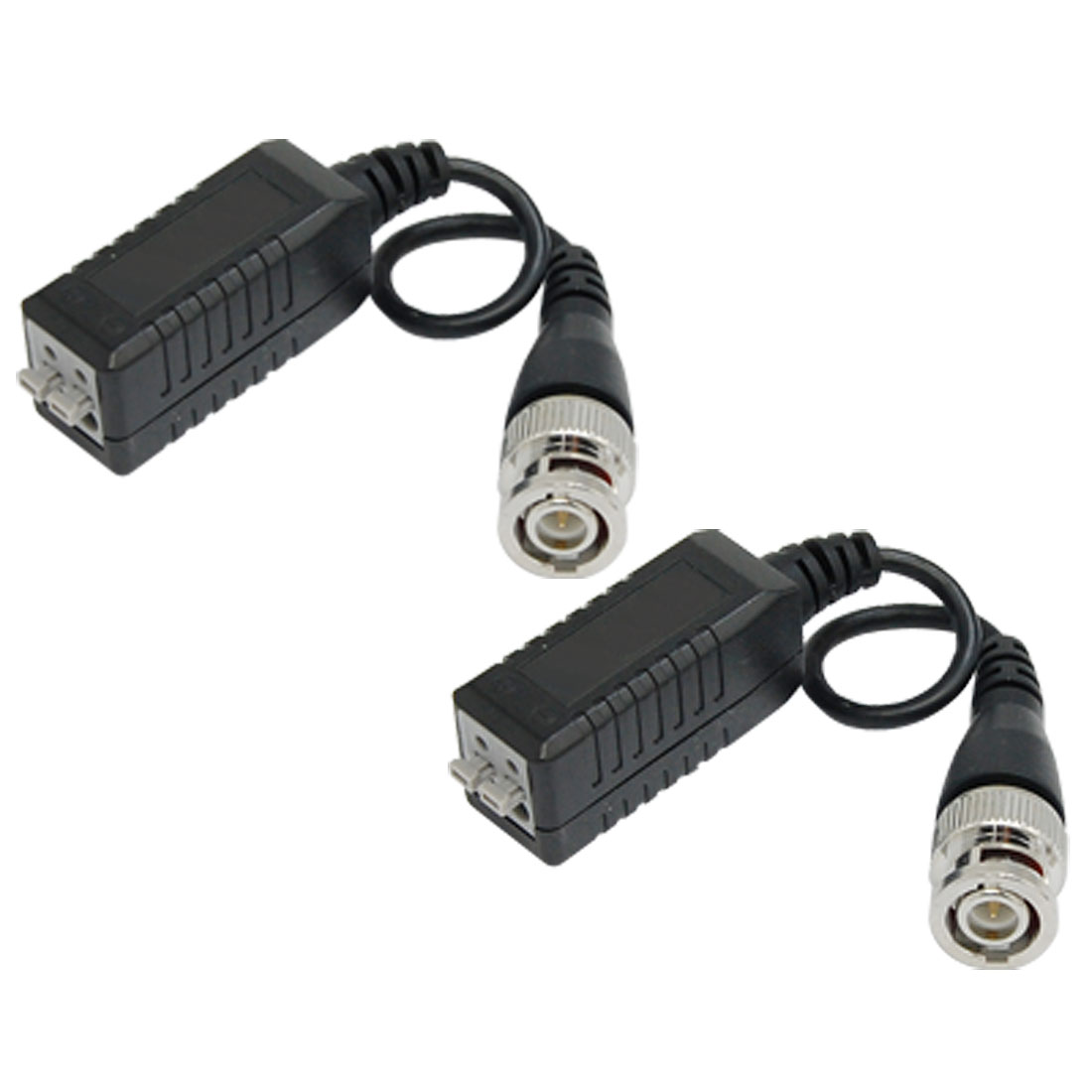 CCTV Camera Male BNC Connector Single Channel Passive Video Balun 2 Pcs
