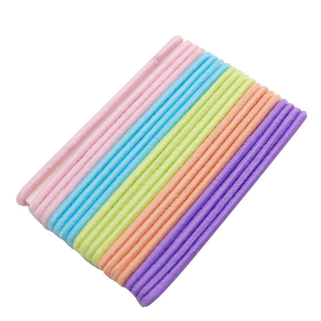 Colorful Elastic Rubber Flexible Hair Bands 20PCS