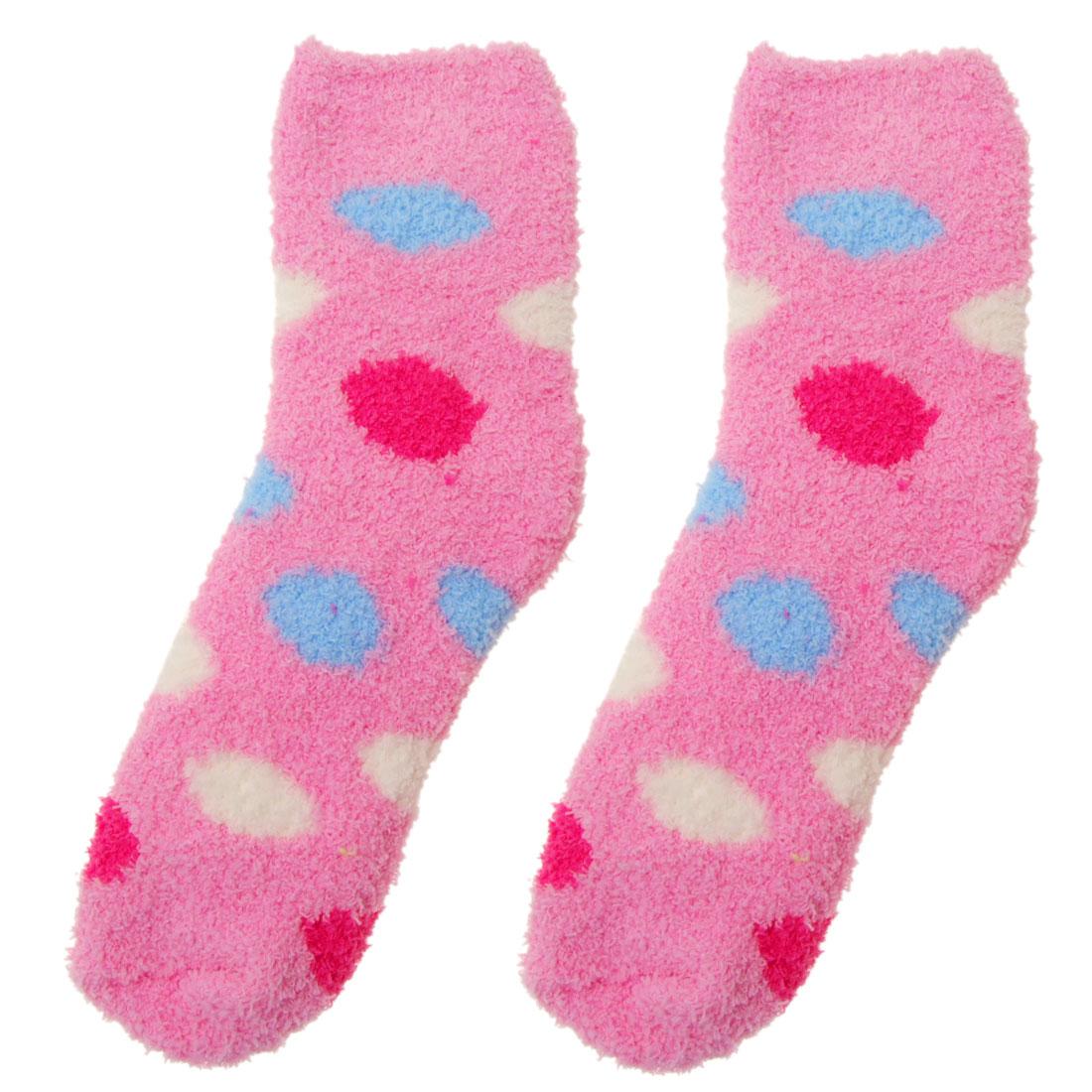 Soft & Cosy Pink Girl's Christmas X'mas Socks