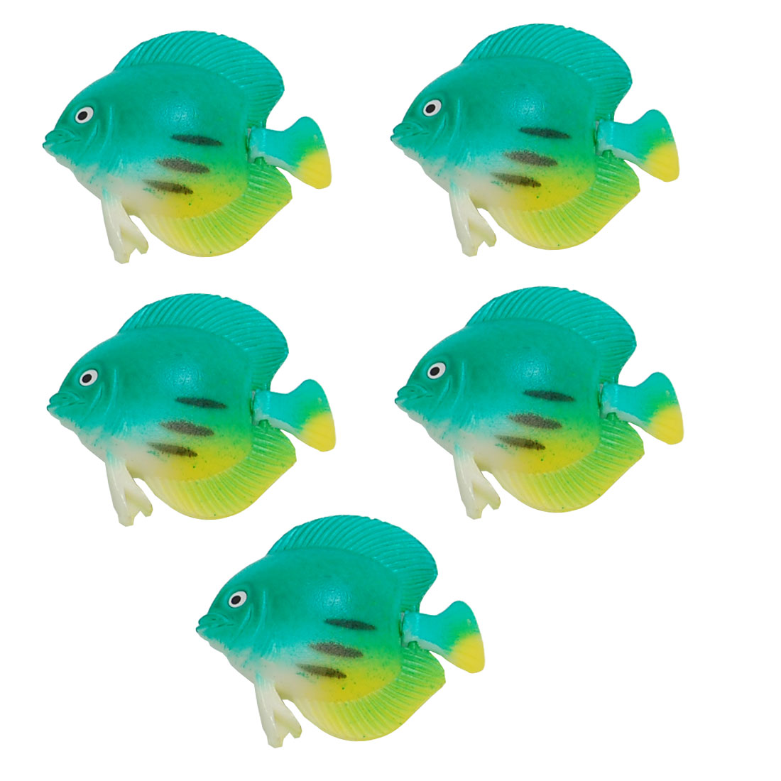 Green Plastic Floating Decorative Aquarium Fish