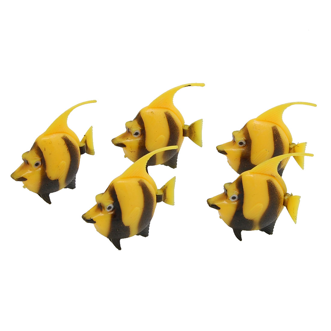 Lifelike Floating Plastic Fish Pack Aquarium Ornament 5 Pcs