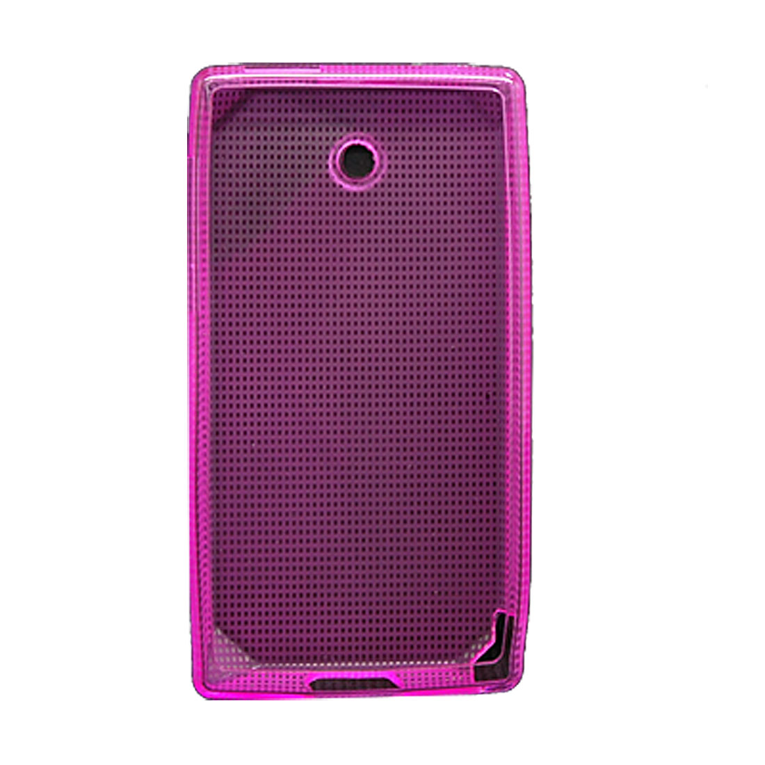 Back Cover Soft Plastic Shield Case for HTC Diamond Pink
