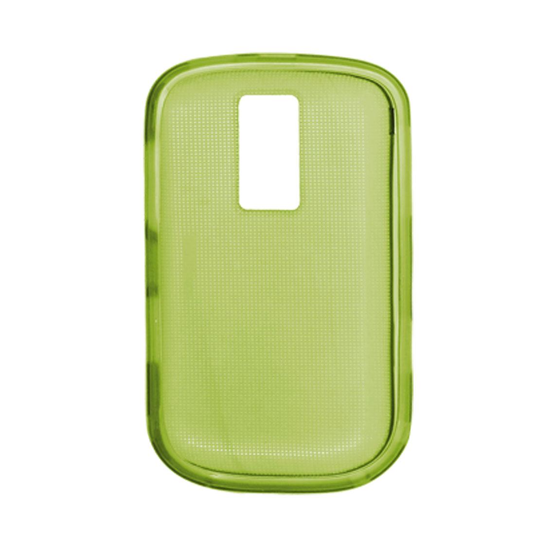 Soft Plastic Shield Cover Back Case for Blackberry 9000 Green