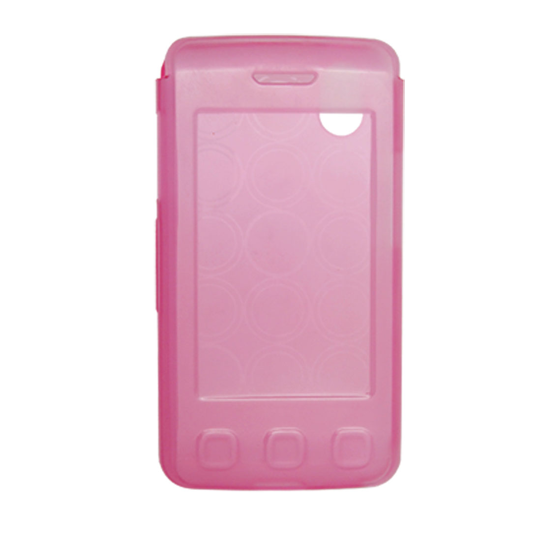 Pink Circles Soft Plastic Cover Case for LG KP550 KP570