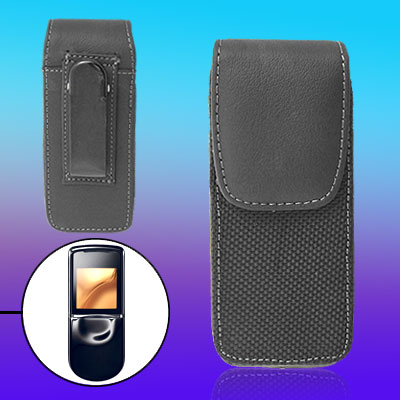 Magnetic Closure Faux Leather Holder Cover for Nokia 8800