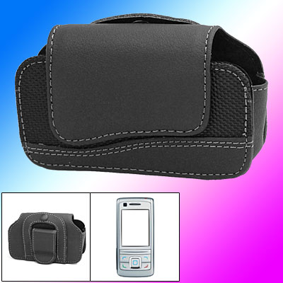Clip Style Magnetic Black Leather Case Cover for Nokia 6280
