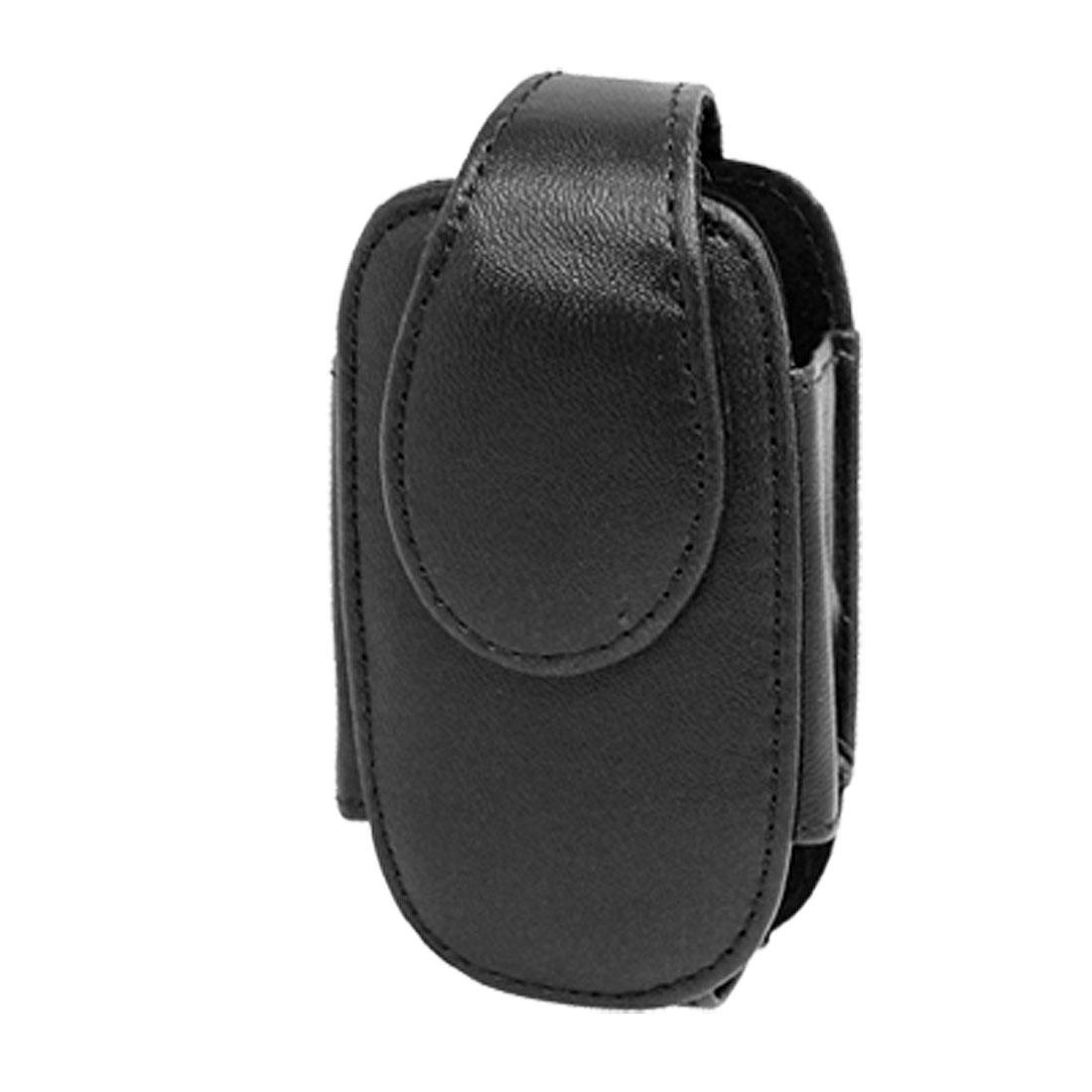 Black Protective Holder Cover Faux Leather Case for Motorola V303