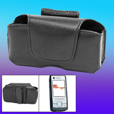 Horizontal Faux Leather Case Cover Holder for Nokia 6280