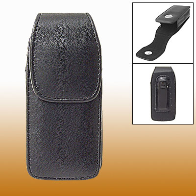 Black Faux Leather Protective Case for Nokia 6108