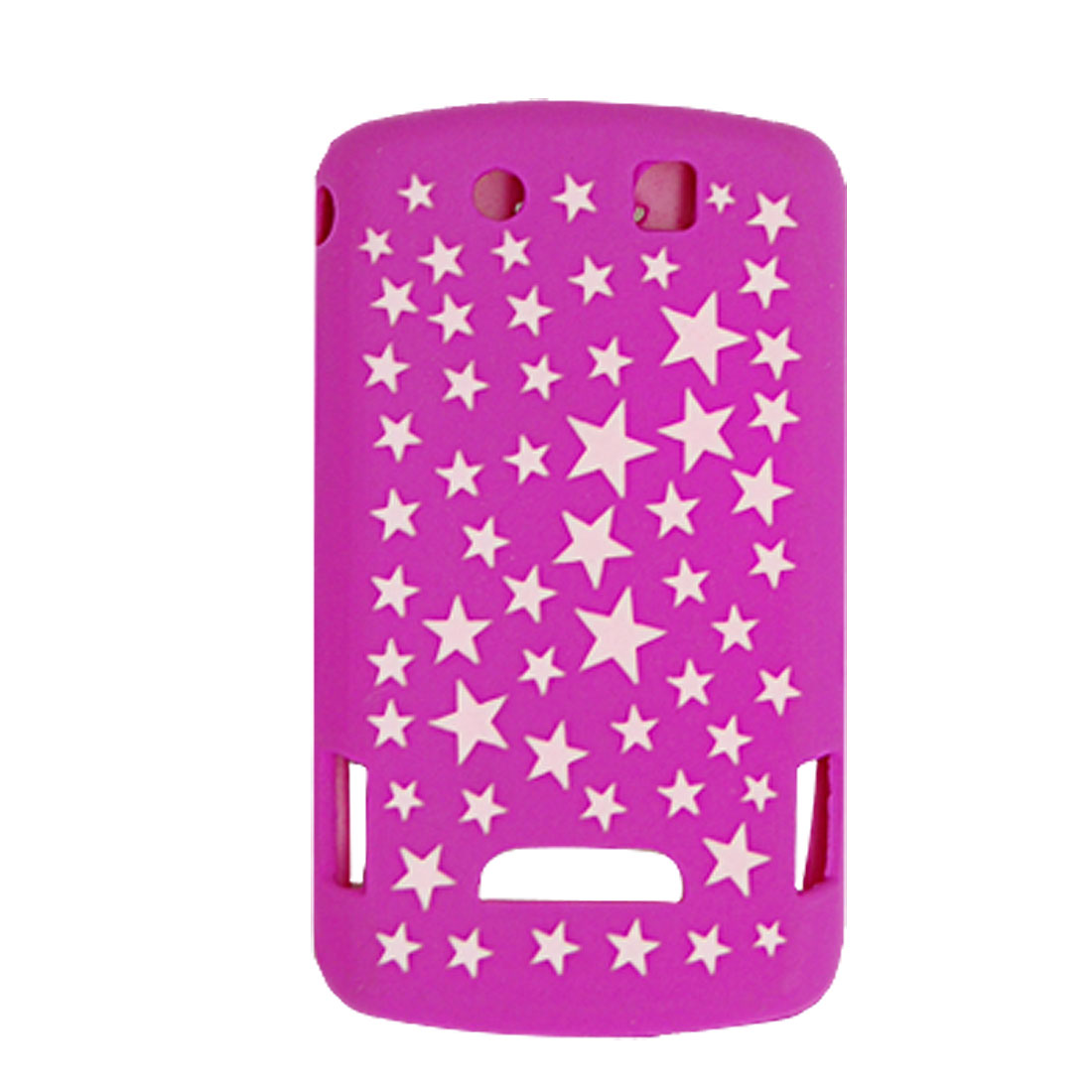 Laser Cut Star Silicone Skin Case Cover for Blackberry 9500