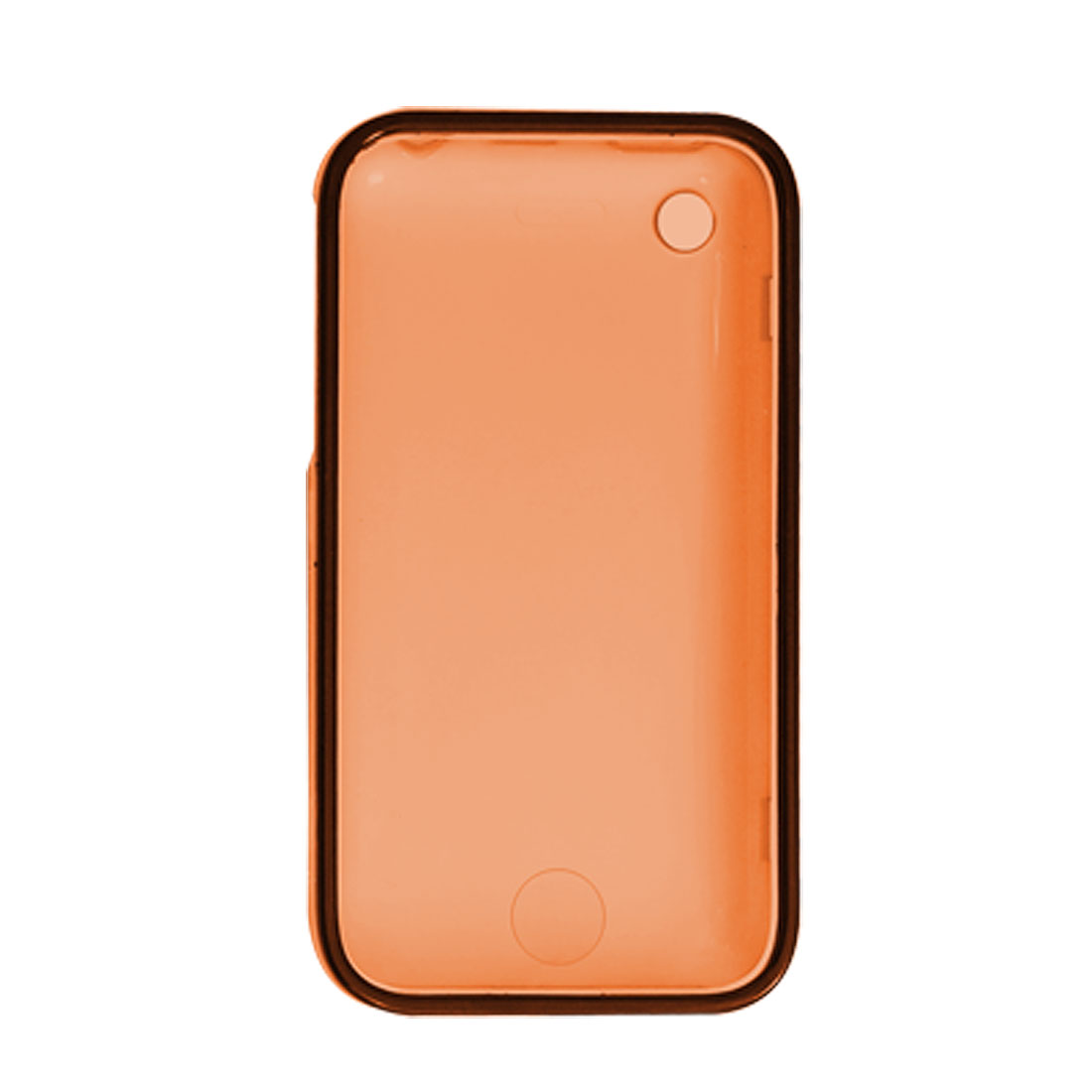 Orange Hard Case w Screen Visor for Apple iPhone 3GS