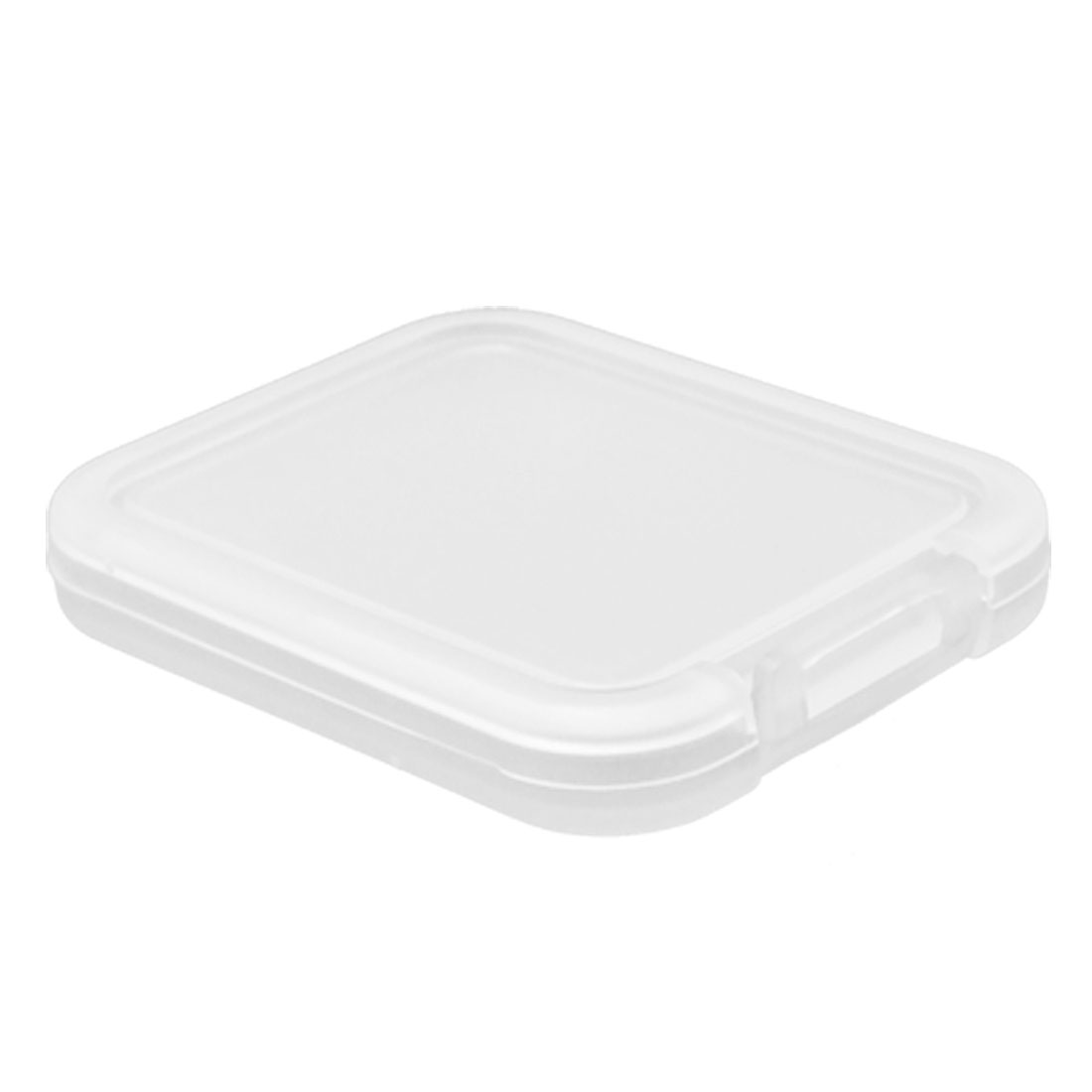 Clear White Plastic Protective Case for Memory Card