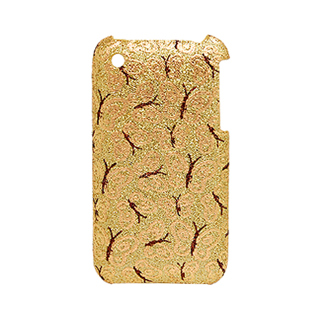 Butterfly Pattern Hard Plastic Case Golden for Apple iPhone 3G