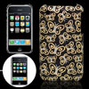 Butterfly Style Hard Plastic Back Case Black for iPhone 3G
