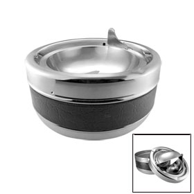 Round Bowl Cigarette Cigar Smoking Ashtray Black