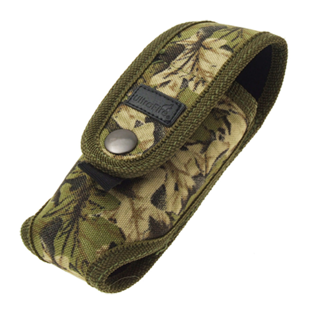 Camouflage Nylon Torch Belt Holder Case Flashlight Pouch