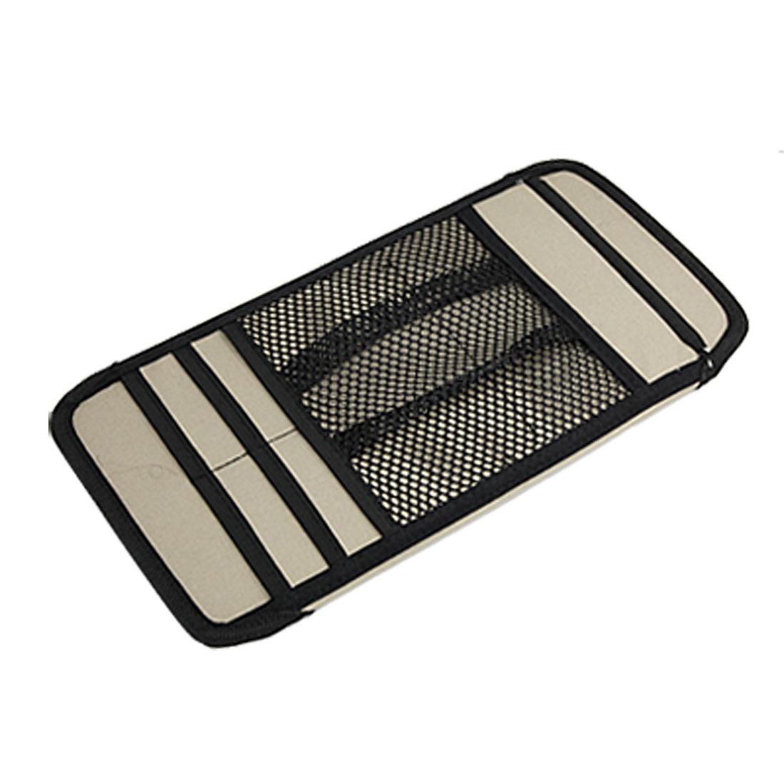 Khaki Black Auto Car Overhead Card & Disc Holder