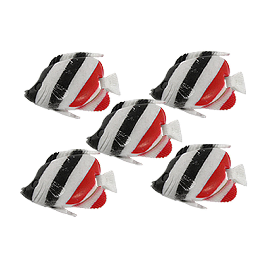 Stripe Pattern Plastic Fish Decoration Aquarium Tank Ornament