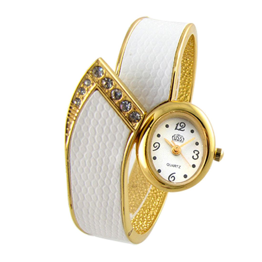 Golden & White Fashion Bracelet Girl's Quartz Watch