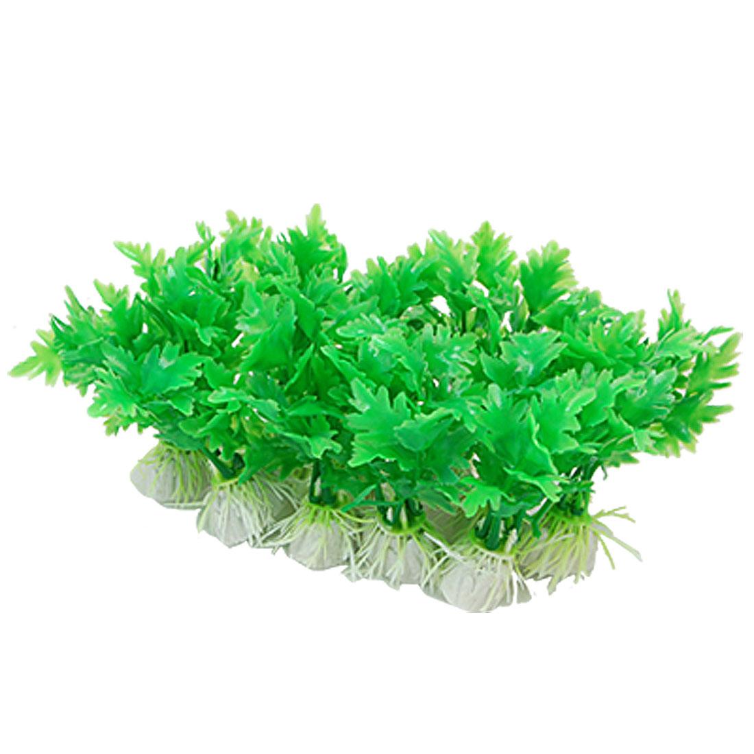 Green Plastic Plants Aquarium Fish Tank Ornament