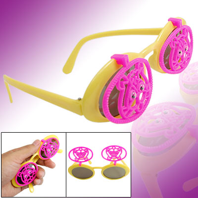 Tiger Style Children's Flip Up Eyewear Sunglasses Yellow