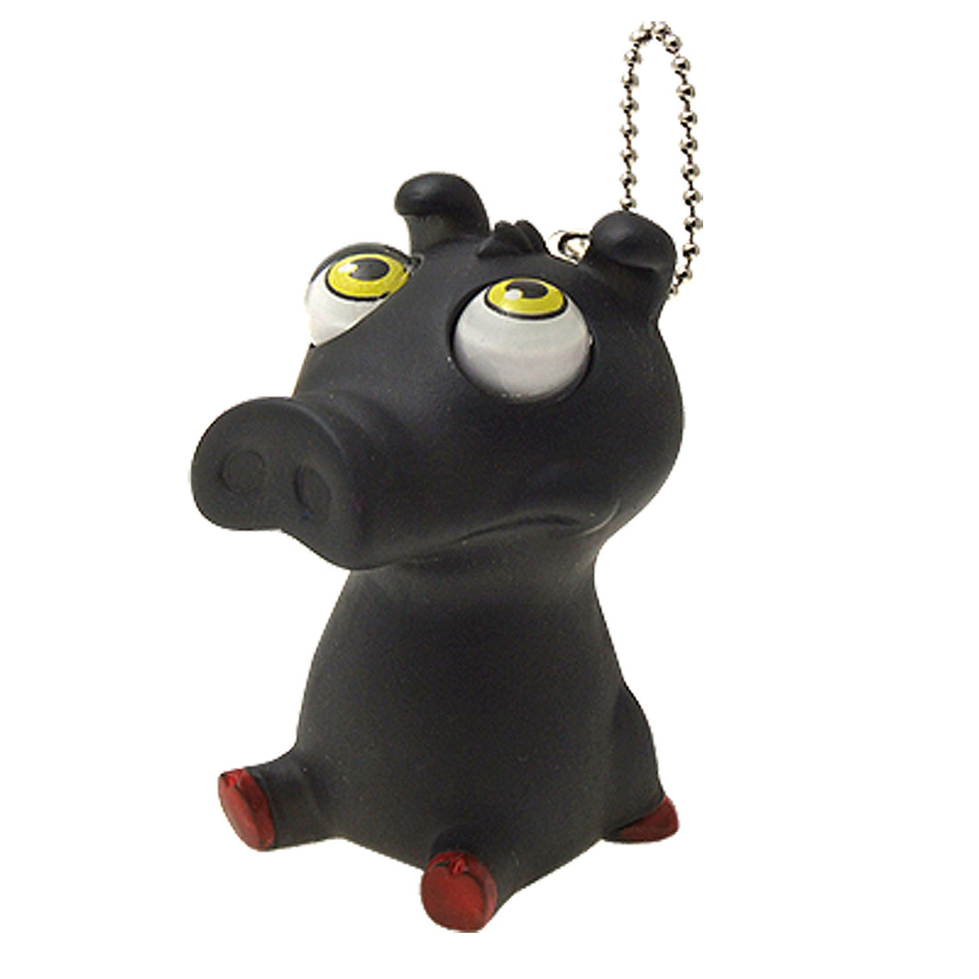 Black Animal Squeeze Relief Toy Gift w. Keychain