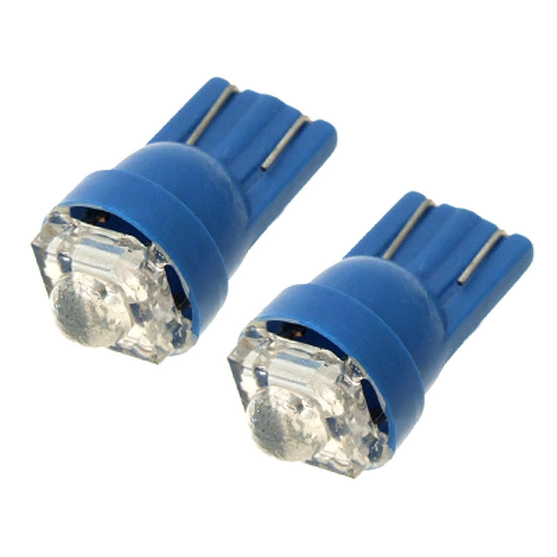 2 Pcs DC 12V T10 Car Auto Vehicle Lamp Bulb Blue LED Light