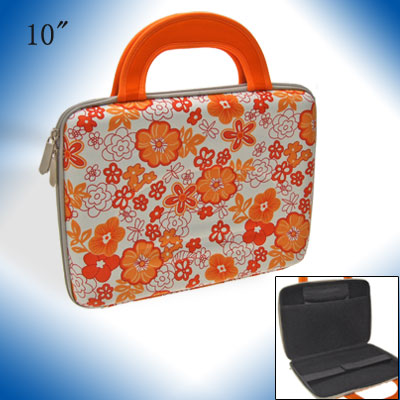 Floral Pattern Bag for 10 Inch Laptop - Red