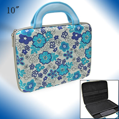 "10"" Notebook Laptop Carrying Case Hard Bag w. Flowers Pattern"