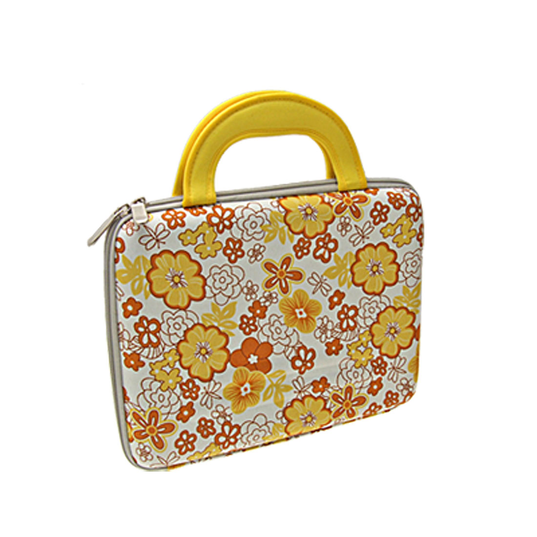 "10"" 10.1"" Yellow Flower Tablet PC Laptop Sleeve Bag Case + Handle for iPad"