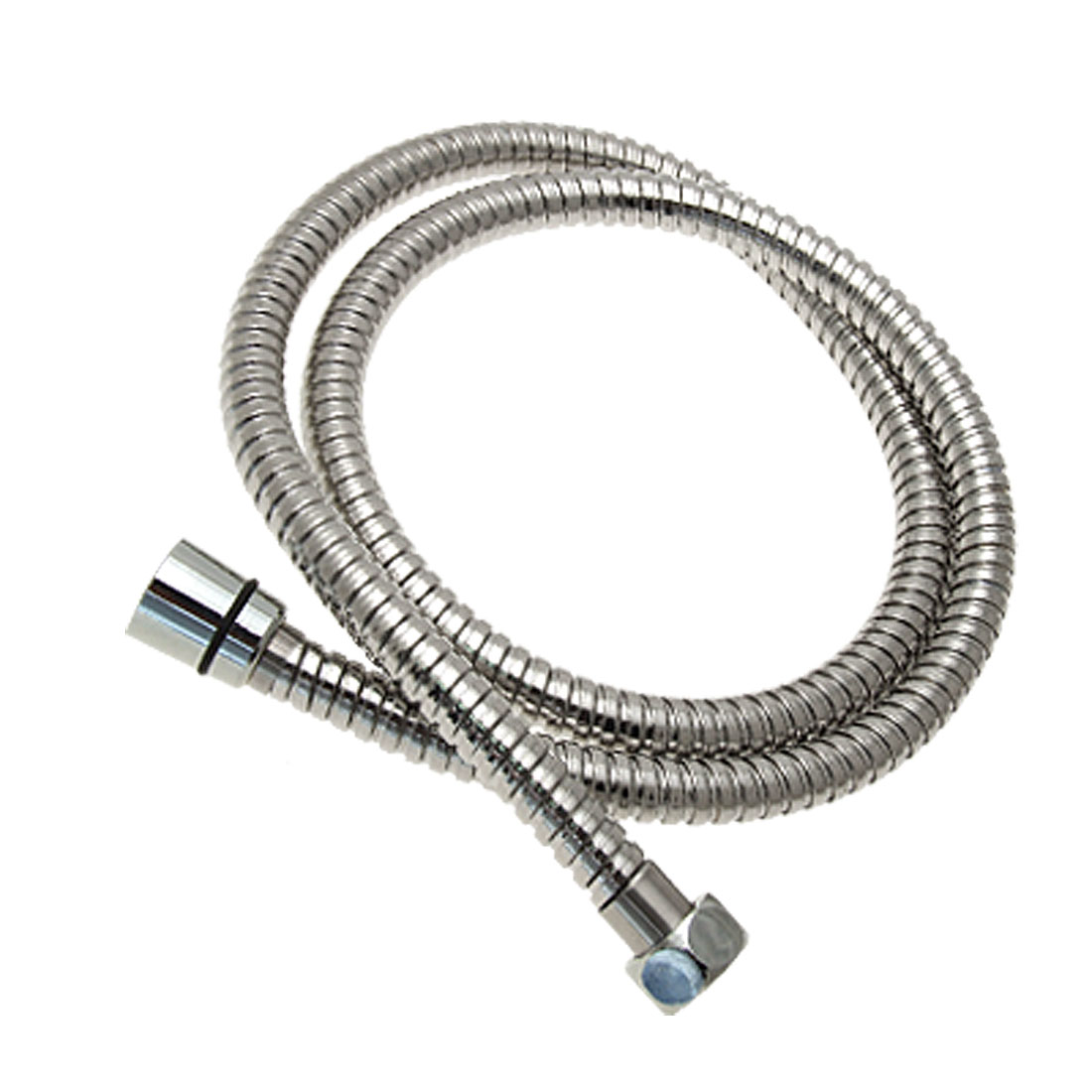 Silvery Metal Plated Plastic Shower Hose 1.2 Meter Long