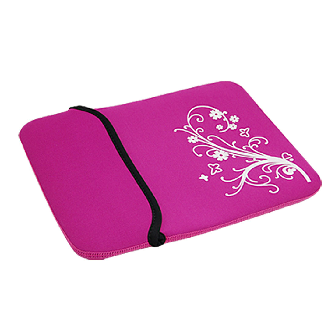 "10"" 10.1"" 10.2"" Purple Neoprene Flower Tablet PC Laptop Sleeve Bag Case for iPad"