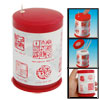 Red White Plastic Can Shape Automatic Toothpicks Holder