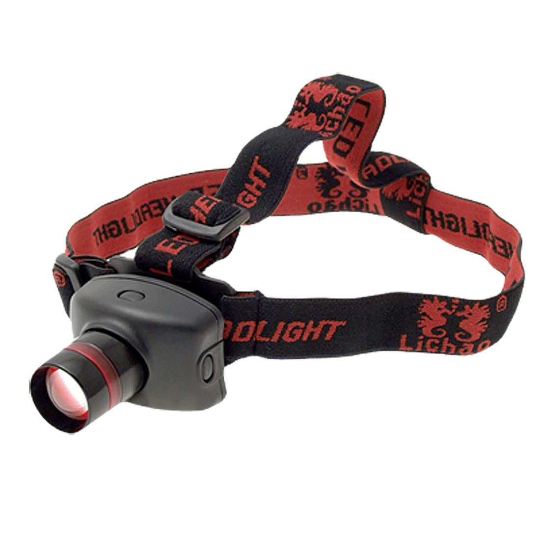 3 Modes LED Focus Control Elastic Strap Headlight Headlamp