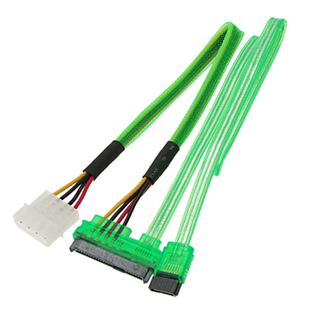 Serial ATA SATA 7+15 Pin to IDE 4 Pin Extension Power Cable