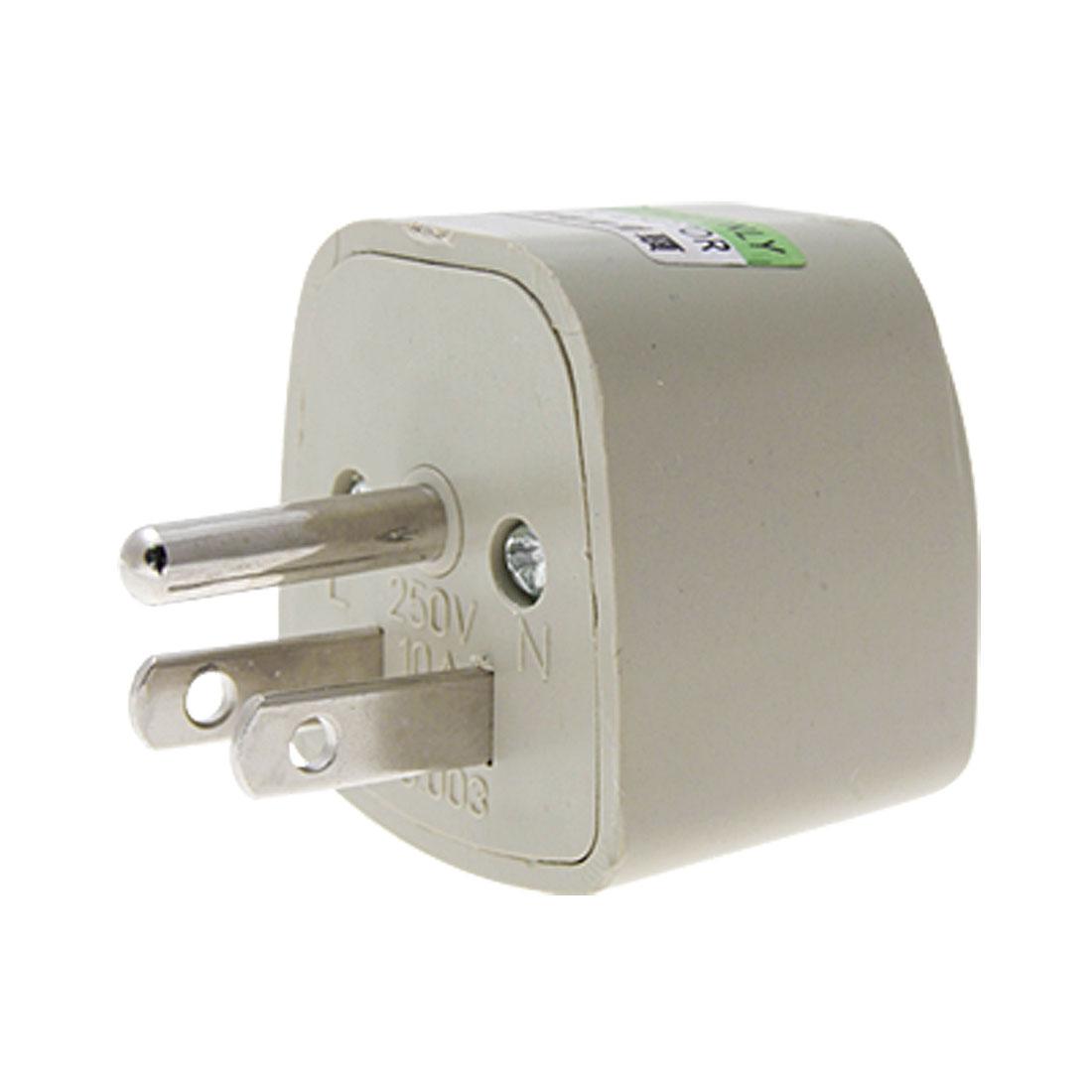 AU US UK Socekt to US AC 250V Power Plug Adapter Converter Gray