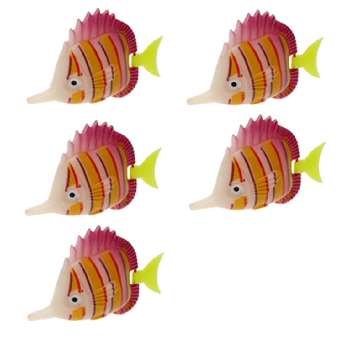 Colorful Plastic Ocean Fish Aquarium Tank Decoration 5pcs
