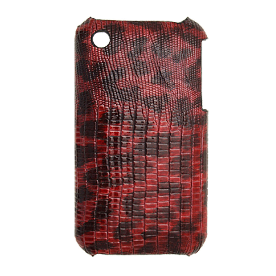 Snake Style Plastic Leather Back Case for Apple iPhone 3GS